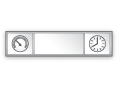 Panneaux horloges-thermomètres